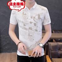 男士POLO衫短袖T恤男装翻领修身潮流半袖纯棉夏季上衣服潮牌韩版