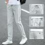 夏季裤子男韩版潮流宽松直筒运动裤学生薄款青少年弹力男士休闲裤