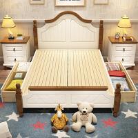 实木高箱床 实木床单人1.2米1.35米1.5米1.8米床储物高箱抽屉床 +2柜