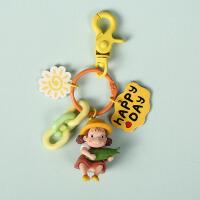 车钥匙扣女韩国可爱创意卡通公仔钥匙链挂饰书包挂件