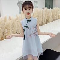 儿童连衣裙 女童汉服夏装古装衣服中国风仙女裙唐装洋气女宝宝女孩无袖旗袍裙子