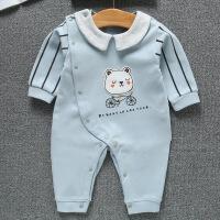 婴儿衣服宝宝衣服新生儿连体衣翻领爬服春款舒绒棉婴儿连体衣