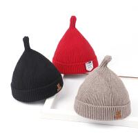 儿童秋冬保暖奶嘴帽宝宝厚款针织尖尖帽毛线帽男孩女孩