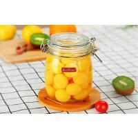 密封罐玻璃瓶透明食品储物罐果酱酵素瓶