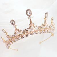 女孩模特走秀公主发箍儿童头饰粉色皇冠女童发饰头花