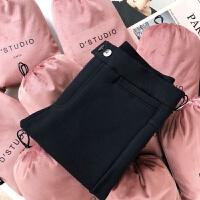 打底裤女外穿加绒加厚小猫魔术裤4.0高腰小脚裤冬款小黑裤 L 建议体重90~105