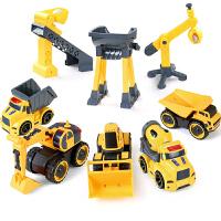 儿童玩具车工程车回力挖掘机小汽车男孩推土机