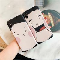 胖男孩女孩11Pro Max大脸情侣苹果X/XS/XR手机壳iPhone6s/8plus/7女6p硅胶个性创意日韩国创意