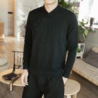 套头毛衣男士秋季薄款套头衫中国风新款针织衫长袖打底衫潮流线衫