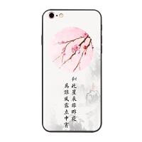 iPhone8plus中���L手�C�ぬO果7古�L山水iPhoneX春夏冬6s硅�z8防摔