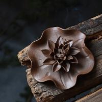 手工香插 妙荷 景德镇陶瓷檀香炉创意荷叶香座香盘室内熏香香薰炉 没有穿孔的