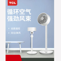 TCL 电风扇空气循环扇家用静音涡轮对流台立式遥控落地风扇宿舍摇头电扇