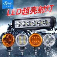 摩托车LED射灯改装辅助大灯电动车外置防水黄光灯泡