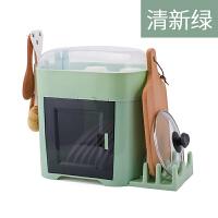 碗筷收纳盒放碗沥带盖厨房家用收纳架沥水架落地多功能经济型碗柜