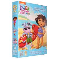 新版朵拉dvd高清碟片 爱探险的朵拉第6季 5DVD儿童双语动画光盘