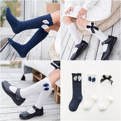 女童中筒袜春秋薄款高筒宝宝过膝长筒袜儿童长袜公主韩版堆堆袜子