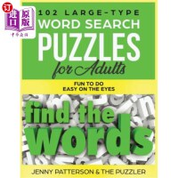 【中商海外直订】102 Large-Type Word Search Puzzles for Adults: Fun