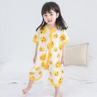 儿童睡衣女童分腿睡袋夏季薄款连体衣空调服1-3岁纯棉4宝宝家居服