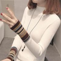 半高领毛衣女秋冬短款修身显瘦套头针织打底衫女长袖内搭上衣