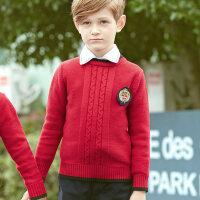 小学生校服秋冬款毛衣套装幼儿园园服加厚秋冬装英伦风班服三件套