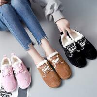 系带雪地靴女2018冬季新款平底学生韩版棉鞋子保暖加绒短靴女鞋潮