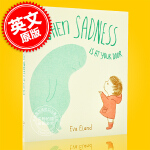 现货 当悲伤来敲门 英文原版 When Sadness Is at Your Door 儿童情绪管理 绘本故事书 精装