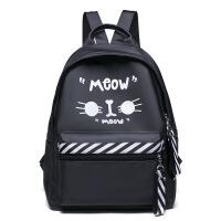 新款双肩背包女休闲旅行背包尼龙旅行包防水韩版个性背包