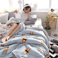 冬季加厚珊瑚绒毯子单人宿舍学生午睡盖毯空调毯