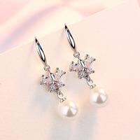 女士气质精美耳钉时尚饰品s925银简约个性耳环