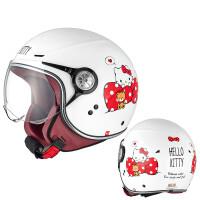 儿童电动车头盔4至6岁 AVA摩托车头盔女男Hello Kitty可爱半盔儿童亲子电动轻便四季冬季