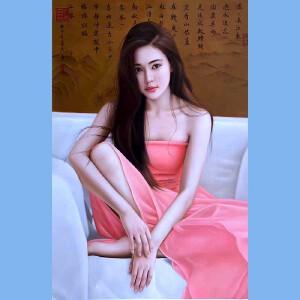 知名油画艺术家,福建省油画协会常务理事曾新伟(江山美人)