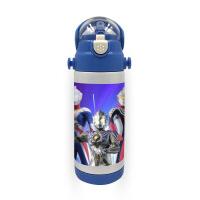 儿童吸管水杯赛罗奥特曼定制不锈钢儿童大容量保温吸水7125