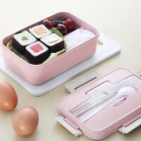 便携饭盒便当盒可微波炉加热 保温学生分格带盖韩国成人带餐盒1人