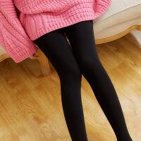 打底裤女外穿春秋冬季连裤袜加绒加厚薄绒灰色黑色显瘦踩脚一体裤