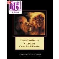 【中商海外直订】Lion Portraits: Wildlife Cross Stitch Pattern