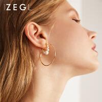 女士气质圆圈款圆环耳圈性冷淡风耳饰时尚圈圈耳环