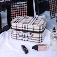 化妆包大容量韩国小清新双层简约便携化妆箱少女化妆品收纳盒