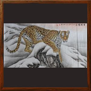 1.8米动物画《雪域雄风》王建升 ML2684 中央美院 河南美协