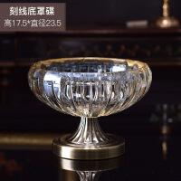 欧式古典水晶玻璃果盘时尚创意现代家居装饰品客厅茶几水果盘摆件