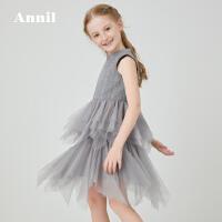 【活动价:284】安奈儿童装女童无袖连衣裙2020春季新款超洋气纱裙