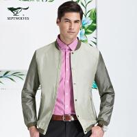 七匹狼夹克外套 春季新品 男士时尚休闲立领单夹克 男装 1012601