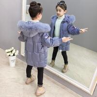 儿童棉衣外套2018新款冬季洋气女孩时髦保暖棉袄中长款