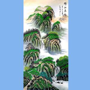 中国美术家协会会员,龙云书画院院长候桂峰(锦江春韵)1