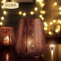 家用欧式烛台摆件复古铁艺烛台北欧浪漫咖啡厅餐桌香薰蜡烛台美式烛台SN9166