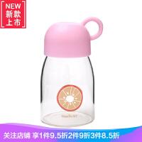 丸子水果玻璃杯 便携学生儿童水杯子女士杯运动车载可爱创意
