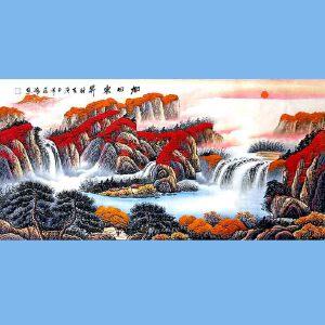 国家一级美术师,中国书画家协会会员,中国山水画研究院研究员范海(旭日东升)
