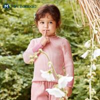 迷你巴拉巴拉女童纯棉毛衣2020秋儿童针织衫保暖舒适打底衫