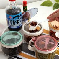 创意厨房用品调料盒套装调味罐玻璃调味盒调料瓶调味瓶盐罐带盖