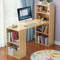 书桌书架组合 家用儿童学习桌带书架学生写字台小桌子电脑桌 台式