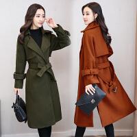 RANJU然聚2018秋冬季女装新品新款毛呢外套女中长款韩版修身时尚潮流呢子大衣